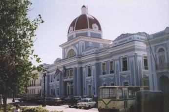 One of many nice building of Cienfuegos central park